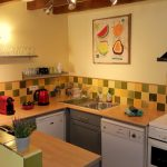 Fully equipped spotless kitchen